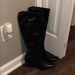 Aerosoles Tall Black Boots - Practically Brand New
